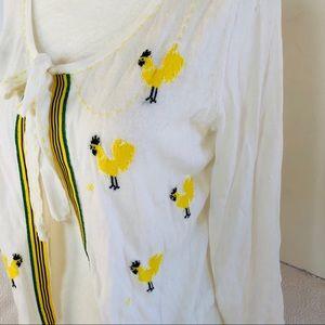 Anthropologie Sweaters - Anthropologie Field Flower Rooster cardigan